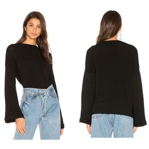 MINKPINK Funnel Neck Ripple Jumper Sweater Small